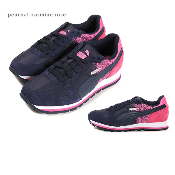 PUMA ST RUNNER FR shoes women women's sneaker women's women's PUMA ST runner FR 359356 shoes shoes black / blue atoll Periscope Gratian gray peacoat / Carmine rose 22.5 23.0 23.5 24.0 24.5 25.0