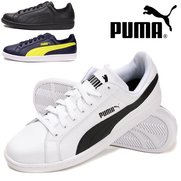 Puma Mens Lows Sneakers Black-White