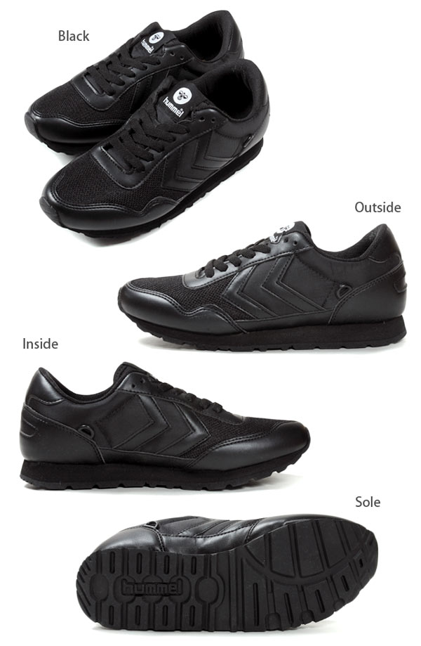 HUMMEL REFLEX TOTAL TONAL LOW Hummel reflex total tonalite Lo Womens Sneakers Shoes low cut leather HM63990 shoes shoes women s jogging running black 22 5