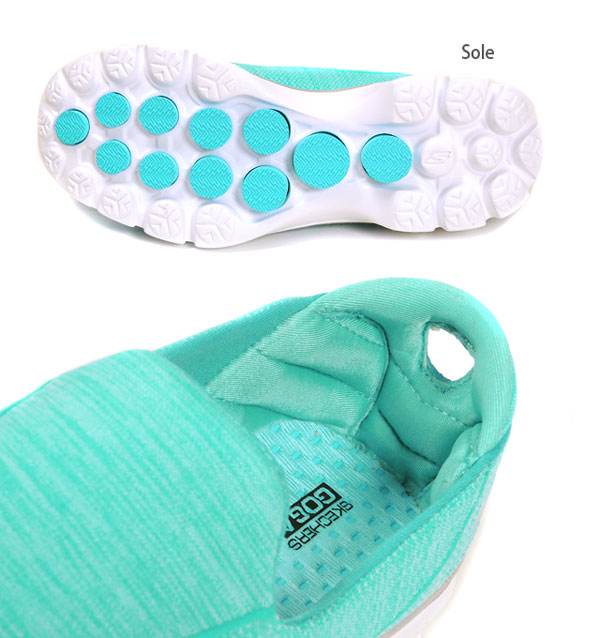 SKECHERS スケッチャーズ GOWALK3 SuperSock3 go walk 3 スーパーソック 3 14046 slip-ons low-frequency cut sneakers shoes shoes shoes Lady's woman walking turquoise 23 23.5 24 24.5