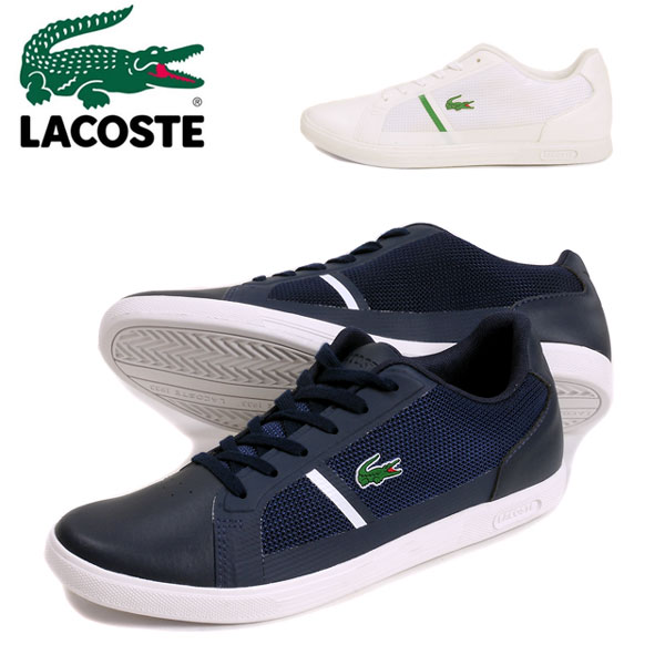 c19bbf230ae809 Gentleman shoes shoes オーソライトレザーホワイトネイビー 25.5 26.0 26.5 27.0 27.5 for the LACOSTE  STRIDEUR 116 1 SPM Lacoste strike rider sneakers shoes ...