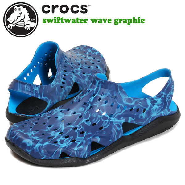 9b31cd20dd8b Clocks sandals Swift water wave graphic men  crocs swiftwater wave graphic  m men man-related domestic regular article CR204524T wave land and water  for two ...