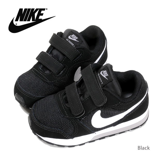 NIKE Nike toddler kids MD RUNNER 2 runner sneakers shoes low-frequency cut  806255 magic tape Velcro child child shoes shoes black black 13 14 15 16