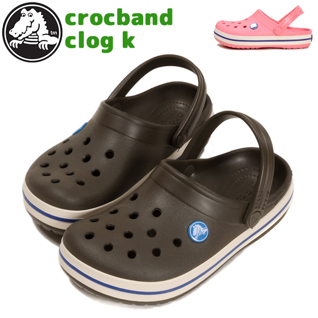 Child Boy Girl ダークカモピオニーピンク Of The Regular Article Jr Rubber Shoes Sandals Cross Light Woman For Crocs Crocband K Clocks