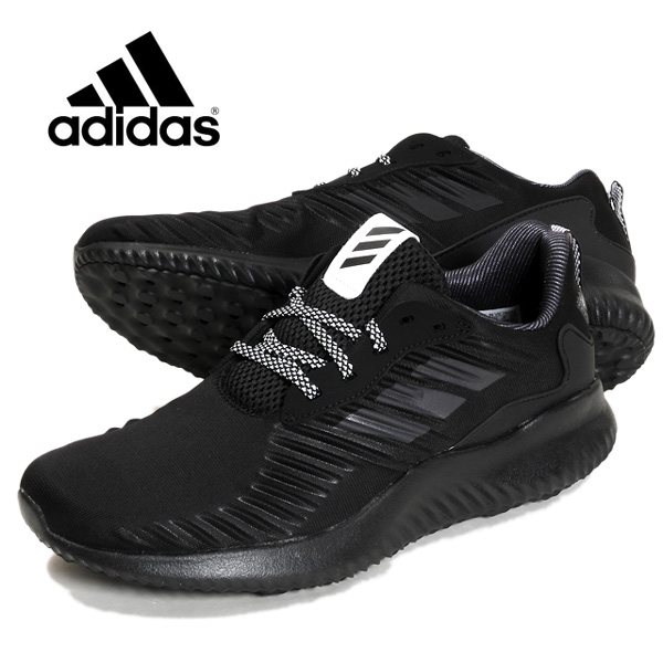 f22a44e23 Black black 26 26.5 27 27.5 28 with the adidas Alpha BOUNCE RC  アディダスアルファバウンスランニングシューズ B42653 men man low-frequency cut sneakers shoes ...