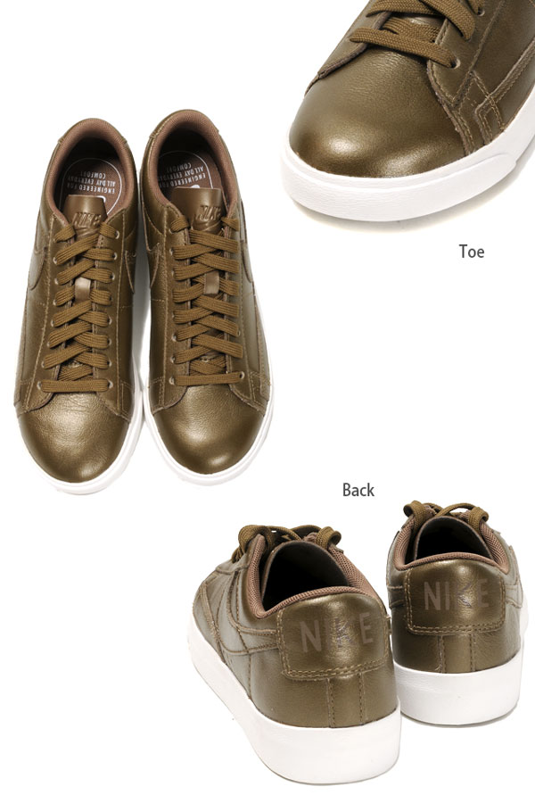 premium selection 03c7d 1cd6b AA3961 shoes shoes MTLC FIELD metallic field gold 23 23.5 24 24.5 25 for  the NIKE WMNS BLAZER LOW LE ナイキブレーザーローカットスニーカーシューズウィメンズ ...