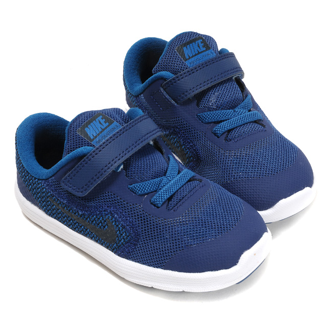 0fb1b6f0f1c NIKE Revolution 3 (TDV) Nike revolution 3 toddler kids sneakers shoes  low-frequency cut 819415 magic tape Velcro child child shoes shoes boy boy  black blue ...