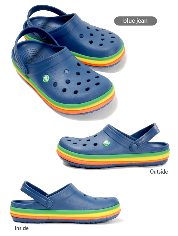 a8847ca1726bae Clocks CB rainbow band clog  cb rainbow band clog sandals men gap Dis man  and woman combined use unisex male woman gentleman woman shoes youth child  child ...