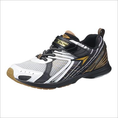 小孩青少年瞬间脚JJ 883儿子运动鞋[男孩子][男人][シュンソク][名牌鞋][鞋][银子][白][尼龙粘链][活动][学校][学校][训练][田径][上学]