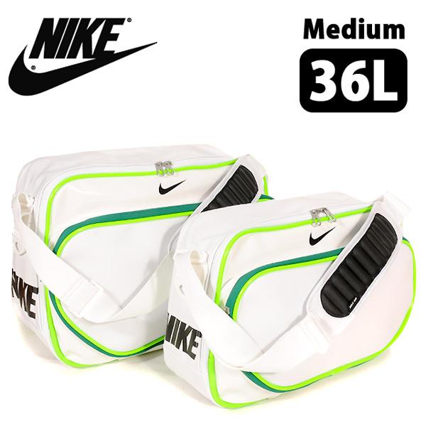 品牌包 ☆ 耐克所有團隊 PU maxemamedium 袋耐克男士女士孩子初中 NJ BA4649 波士頓肩體育鍛煉健身學校學校包袋白色 36 L