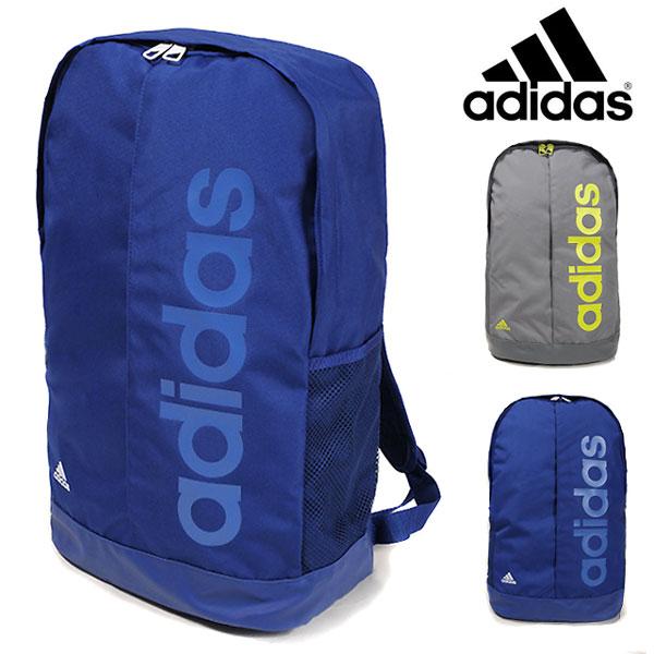 品牌包 ☆ 阿迪达斯阿迪达斯线性背包林每 BP 29903 29905 背包 D 包背包体育运动俱乐部学校健身房袋包袋广场每袋蓝灰色 22.9 L
