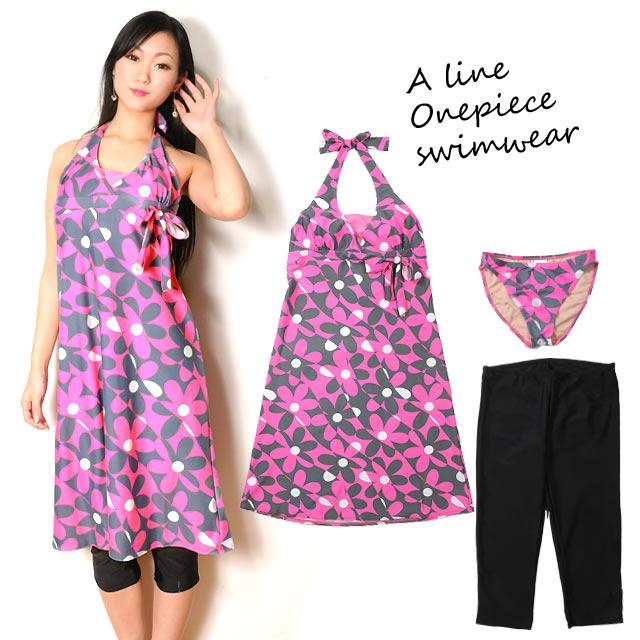 Osharemarket | Rakuten Global Market: Ladies flower pattern A line ...