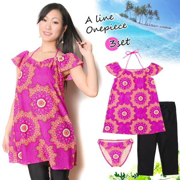 Osharemarket | Rakuten Global Market: Ladies large floral A line ...