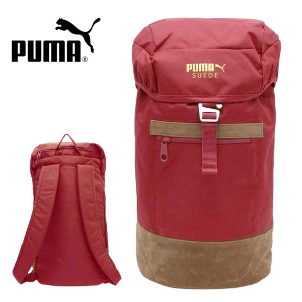 PUMA suede backpack PUMA 073193 backpack daypack D Pack suede Rocard hood string thong sports exercise gym school school club bag bag team legal red 23L