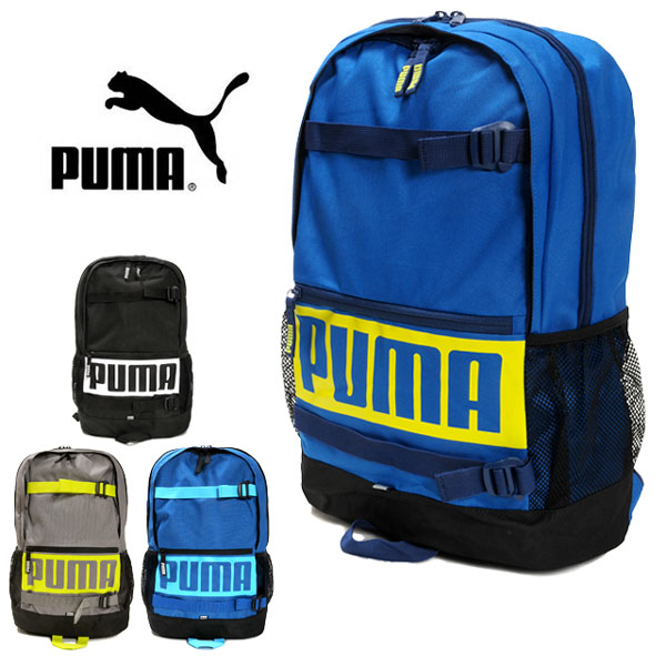 b11841a7d0 PUMA Puma deck backpack 074706 rucksack day pack D pack skateboarding  sports gym school school club activities bag bag 24L プーマブラックスティールブルー ...