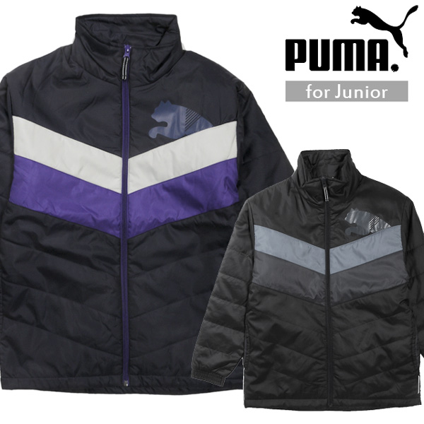 0944d10440df PUMA youth batting jacket Puma 827284 kids boy child boy long sleeves outer  zip up zipper fastener sports campaign cold protection dry cell reflector  ...