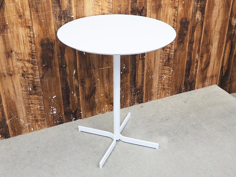 【新古品】 【展示品】 interiors (インテリアズ) XT / φ600 円形 ダイニングテーブル ガーデンテーブル ホワイト 【S0603-01】