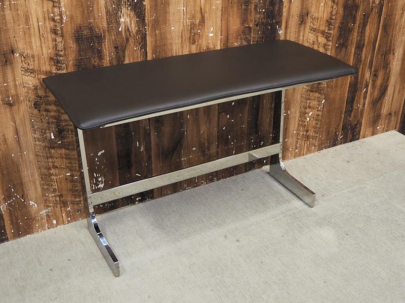 【新古品】 【展示品】 arflex (アルフレックス) BRERA TABLE (ブレラテーブル) / W830 サービステーブル サイドテーブル ブラウン クローム 【S1219-03】
