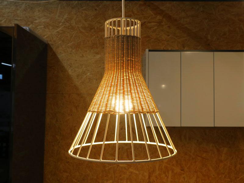 【中古】 【展示品】 IDEE(イデー) LILIUM LAMP S φ300 ペンダントライト ナチュラル × ホワイト【T0305-01】