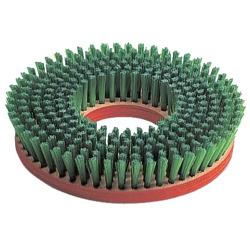 クリアランスsale!期間限定! 休み タイルなど凹凸のある床洗浄用 ポリッシャー用ナイロンブラシ 14インチ 緑