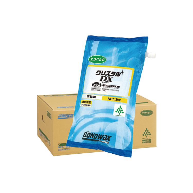 【ワックス】クリスタルDXエコパック(2kg×9袋) 18L(コニシ)[店舗 オフィスビル 商業施設 ホテル]