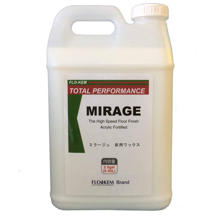【ワックス】 ミラージュ(TOSHO)19L(9.5L×2本)[化学床 床用 高濃度 樹脂ワックス]