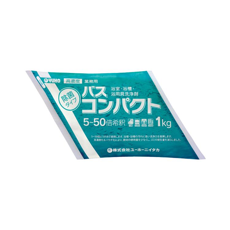 【ユーホーニイタカ】バスクリーナー バスコンパクト 1kg×4袋[浴室 パウチ 中性 コンパクト]