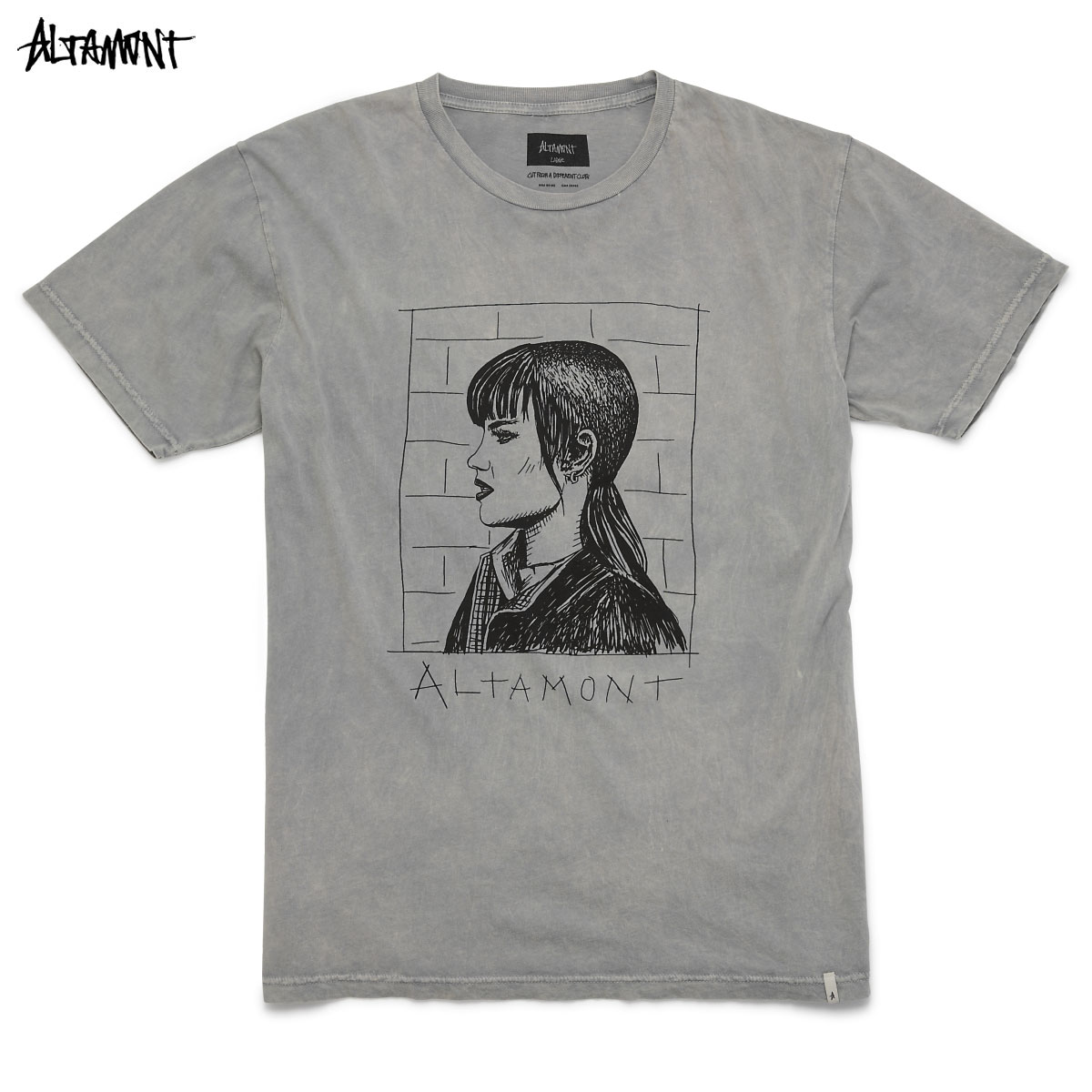 ALTAMONT(arutamonto)CHELSEA T恤RINGS面包染色光头女孩子BAKER SKATEBOARDS HEROIN SKATEBOADS服饰名牌街道服装