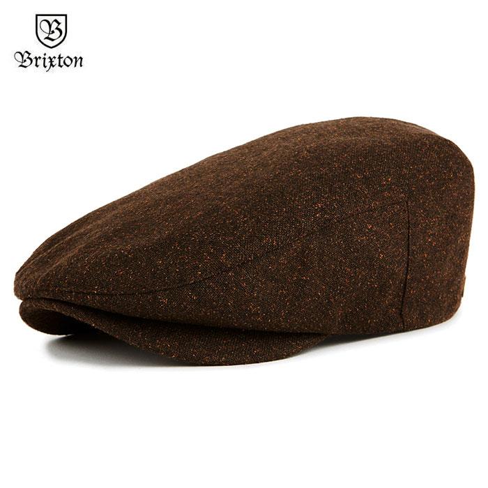 OSS CLOTHING  18 BRIXTON (Brixton) BARREL SNAP CAP hunting cap hat men  autumn brown 58cm 60cm  4f13de123750