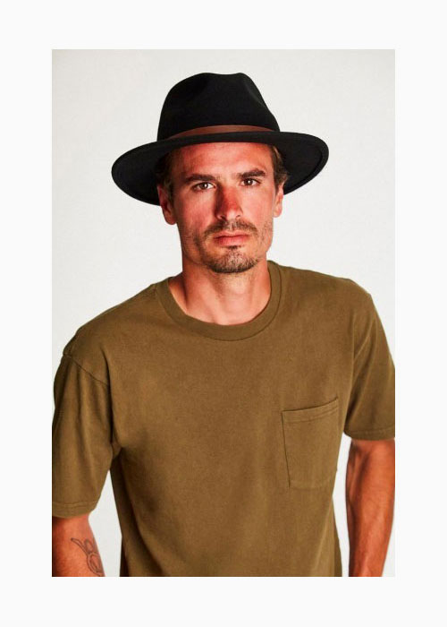 6e4e58ae9d 18 BRIXTON (Brixton) MESSER FEDORA feh gong hat men winter wool felt soft  felt hat black 58cm/60cm
