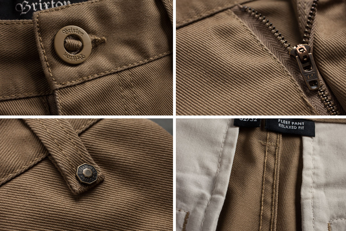 BRIXTON(師魚樟噸)FLEET RIGID CHINO PANT(CHARCOAL)卡其色系短褲去,工作褲溜冰者