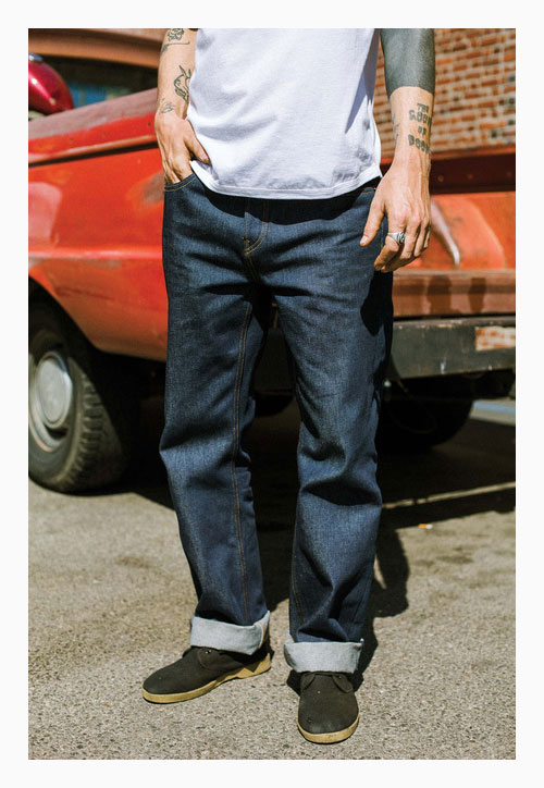 Worn Black Brixton Labor 5 Pocket Denim Jeans