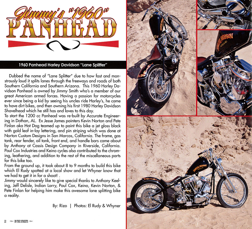「 」 IN THE STREETS MAGAZINE - Vol 1. Issue 2 (잡지 책 BOOK TATTOO 문신 로우 라이더)