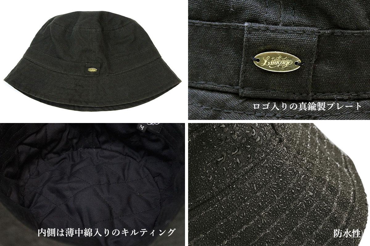 f38d20df30a5a1 ... LINKAGE (linkage) CLASSIC LOGO WAXED BUCKET HAT pail hat men winter wax  cotton waterproofing ...