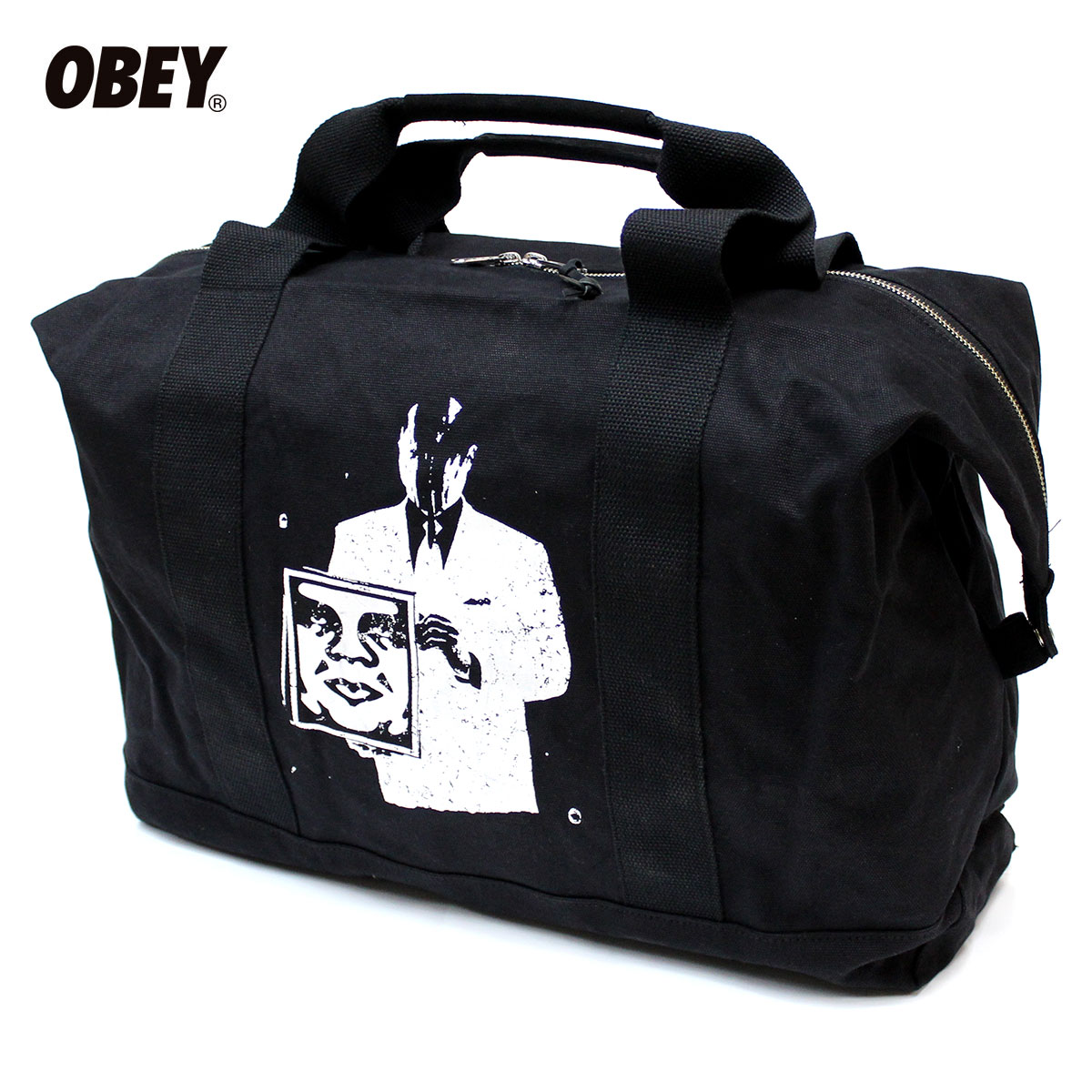 OBEY (obey) CORPORATE VIOLENCE WEEKENDER [large tote bags travel bags bag BRIXTON Brixton HUF Huff]