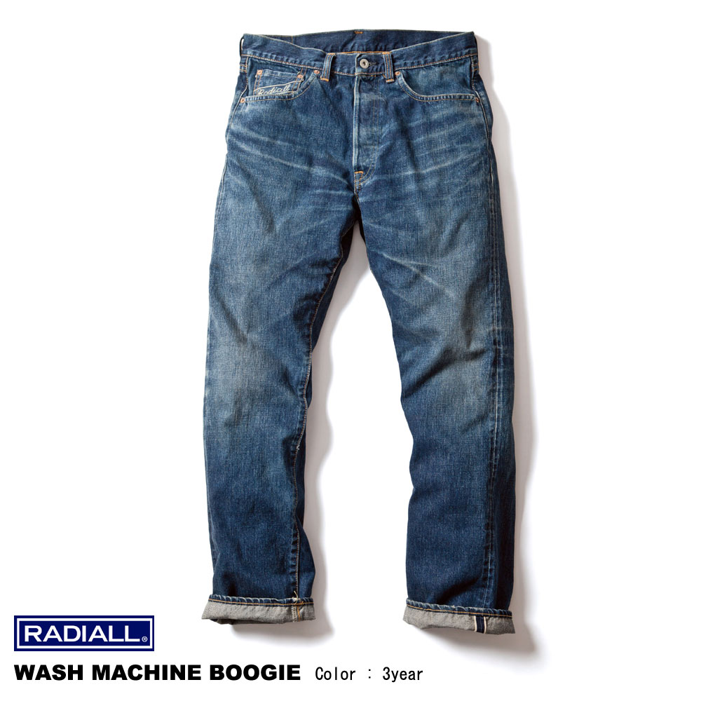 RADIALL(魯迪阿爾)WASH MACHINE BOOGIE 5pockets pants(3year)
