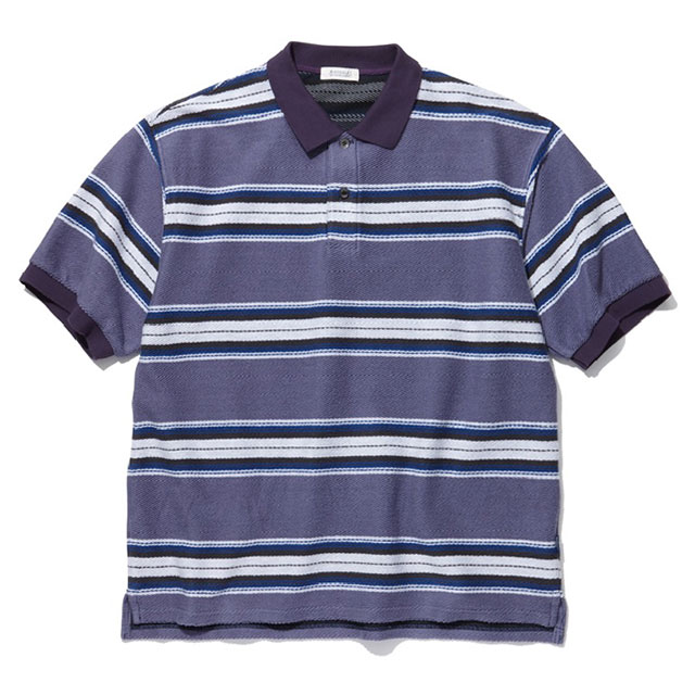 RADIALL (ラディアル) CISCO - POLO SHIRT S/S ポロシャツ メンズ 19春夏 綿/ポリエステル 半袖 ゆったり メキシカン ボーダー 紫 M-XL 【送料無料 / サイズ交換無料対象商品】 【あす楽対応】