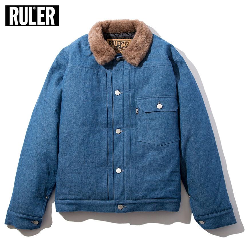 【先行予約 / 10月初旬-11月初旬入荷予定】 RULER (ルーラー) ROTT 1ST TYPE DENIM JACKET ルーラー ジャケット デニムジャケット 1st ストリート ブランド
