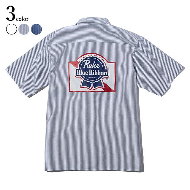 RULER (ルーラー) PBR REDKAP WORK SS SHIRTS 半袖シャツ メンズ Red Kap ワークシャツ リメイク 全3色 M-XL 【送料無料 / サイズ交換無料対象商品】 【あす楽対応】