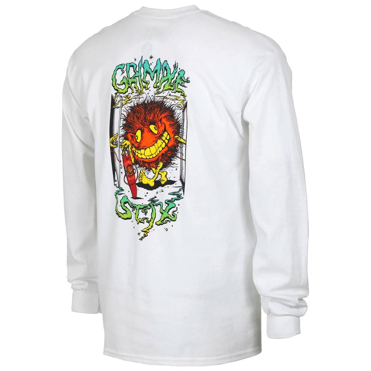 【メール便送料無料】 ANTIHERO (アンタイヒーロー) Grimple Key Master Long Sleeve Pocket T-Shirt アンチヒーロー スケボー ロンT ロンティー Tシャツ 長袖 メンズ ブランド 綿 厚手 ポケット ロゴ プリント バックプリント 白 M L XL 大きいサイズ 【あす楽対応】