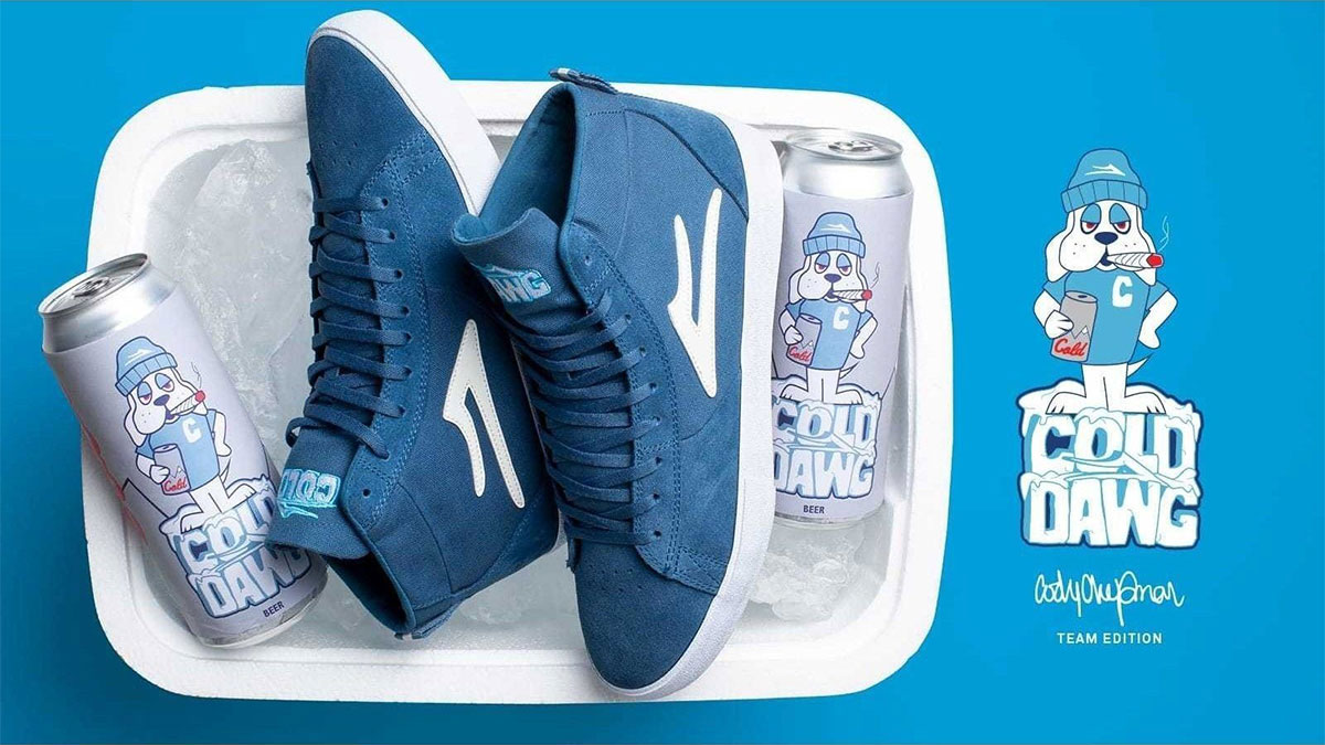 NEW Mens Lakai Skateboard Shoes Cody Chapman edition Newport Hi Blue Suede