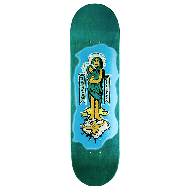 【送料無料 / デッキテープ無料】 THE DRIVEN (ドリブン) Gonz x Guadalupe Teal Skateboard Deck 8.375in スケートボード スケボー デッキ 【あす楽対応】