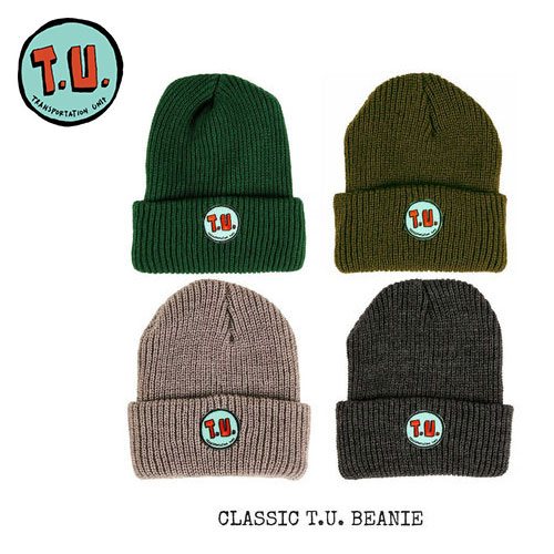 ... (T.U.) CLASSIC T.U. BEANIE beanie knit cap knit hat cap hat) TU Skateboards  skateboarding skateboard skating brand CREATURE Vans Girl Converse BRIXTON 911240cdf1da