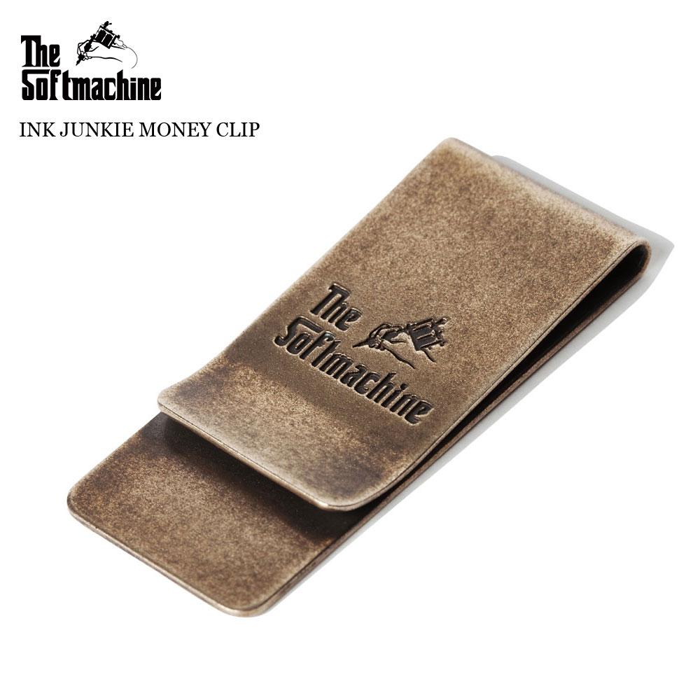 [回來的股票 7/31/(Friday)] SOFTMACHINE (軟機) 油墨迷錢剪輯錢夾子 (黃銅)