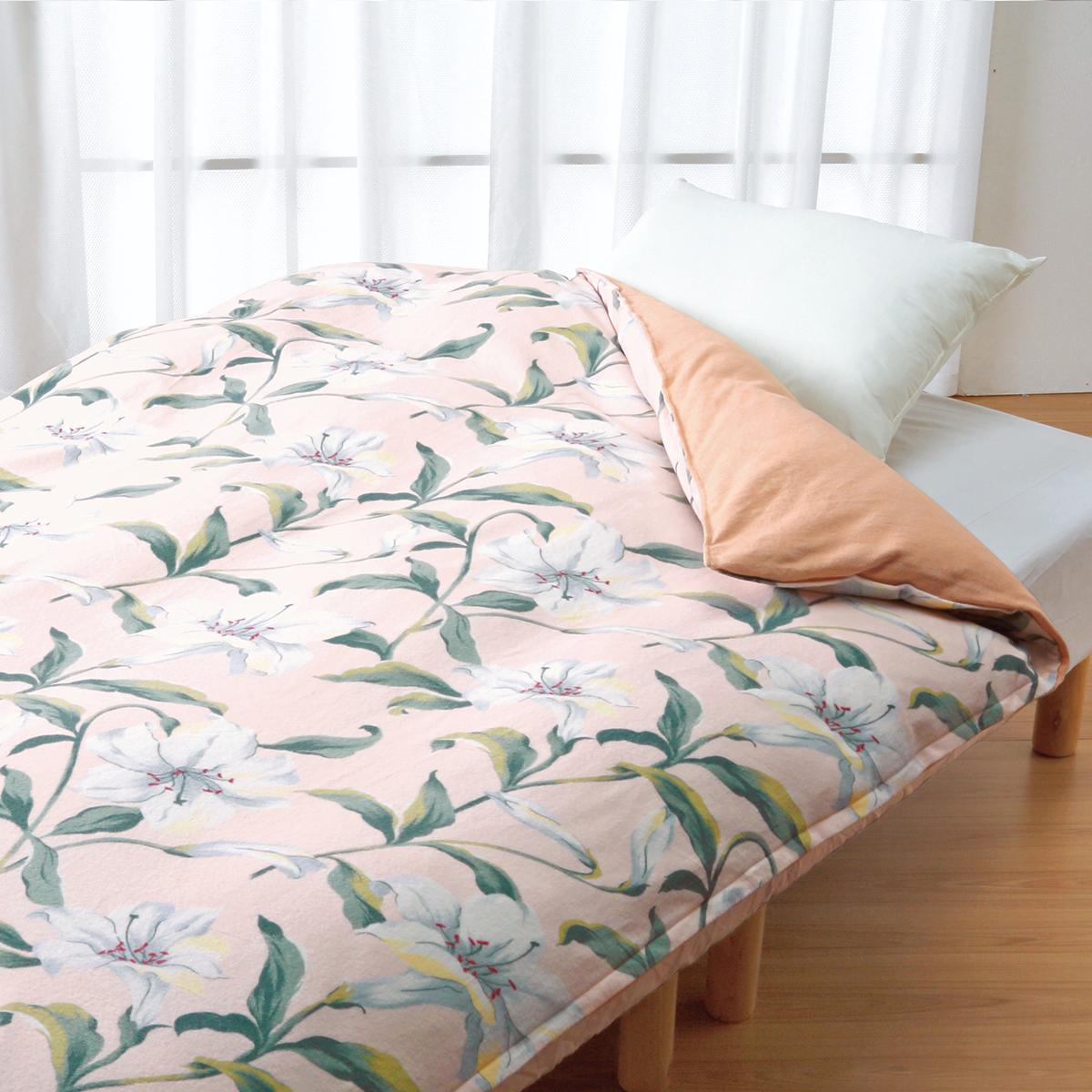 ロマンス小杉 掛けふとんカバー シングル 150x210cm ウォームパイルカバー 暖かい 防寒 やわらか 肌触り 心地良い おしゃれ 花柄 上品 高品質 高性能