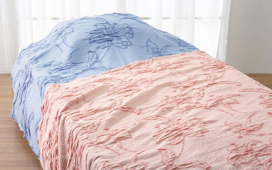 ロマンス小杉 オーバーブランケット 180x230cm Seora 大きめ サイズ ゆったり 暖かい ベッドスプレッド 花柄