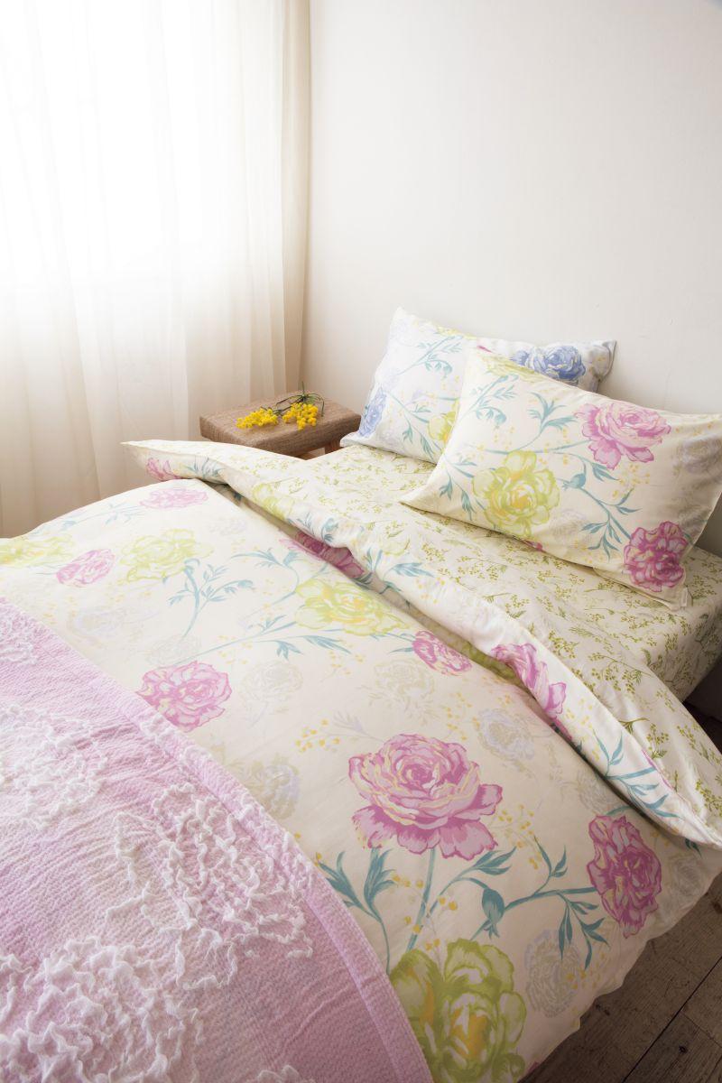ロマンス小杉 掛けふとんカバーDL ダブル 190x210cm Seora(セオラ) かけぶとん 布団 日本製 綿100% ファスナー 花柄