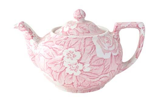 イギリス食器 バーレイ社 ピンクビクトリアンチンツ ティーポット S 550cc 花柄/おしゃれ/陶器/おすすめ/かわいい