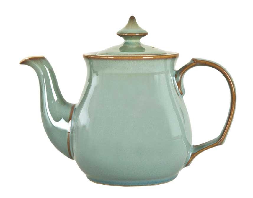 イギリス食器 Denby Regency Green リージェンシーグリーンティーポット 1L 耐熱/おしゃれ/陶器/おすすめ/かわいい/英国展/英国食器/英国製/ポット