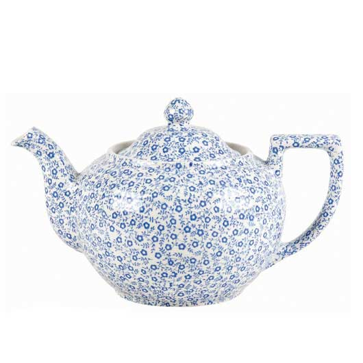 バーレイ 英国食器 Burleigh ブルーフェリシティ ティーポット 550ml 花柄/おしゃれ/陶器/おすすめ/かわいい